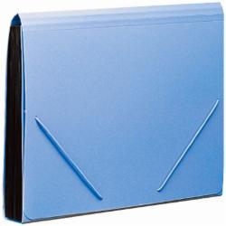 齐心(Comix) F4302 易分类 松紧带式风琴包/文件夹/票夹 A4 12格 蓝色