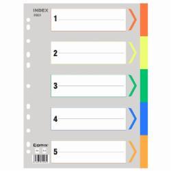 齐心(Comix) IX901 五色袋 易分类 年度索引纸