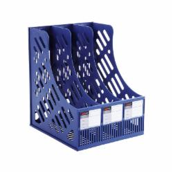 远生(USign) US-618 三格组合资料架 文件架 三联文件栏 蓝色
