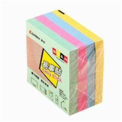 齐心(Comix) D6005 办公强力系列易事贴彩色便利贴便签本N次四色