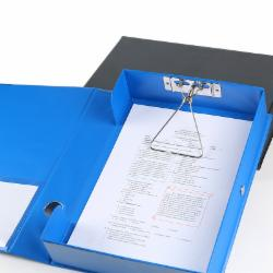 齐心(Comix) A1236 人事文件盒档案盒塑料记账凭证盒资料文书A4会计收纳盒