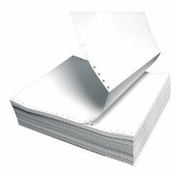 洲宝单白三分之一不斯边打印纸 120*279/40列 1000页/箱