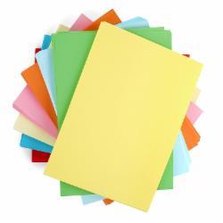 蓝光彩色A5复印纸 浅黄色 10包/箱