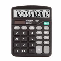 齐心(Comix) C-837H 12位中台办公经典计算器 黑色