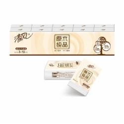 清风(APP)手帕纸纸巾 原木纯品 3层10张*10包