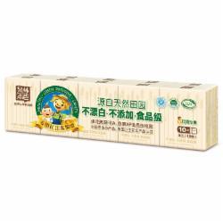 泉林本色 手帕纸 不漂白食品级便携本色手帕纸3层10张*10包