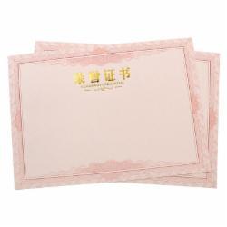 欧标(MATE-IST)8K荣誉证书内芯 奖状内页 奖状纸烫金字体