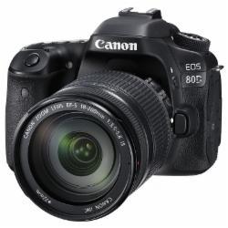 佳能(Canon)EOS 80D单反套机( EF 70-300mm IS II USM镜头)(含128G内存卡+单反相机包)