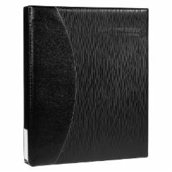 齐心(Comix) 商务名片册 大容量名片本 二段十格名片夹 600枚 黑色 A1613