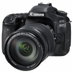 佳能(Canon)单反相机/EOS 80D 照相机(配18-200mm镜头+128GSD卡+相机包)