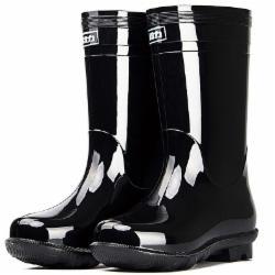 回力男士中高筒雨鞋雨靴胶鞋套鞋防水鞋 838中筒 42