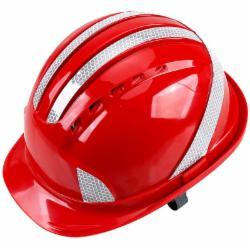 赛拓(SANTO)1973 安全帽 带荧光反光条 工业ABS 工地防砸帽子