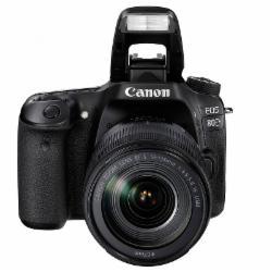 佳能(Canon)EOS 80D 单反套机(EF-S 18-200mm f/3.5-5.6 IS) 2420万有效像素45点十字对焦WIFI/NFC(含64G内存卡+相机包)