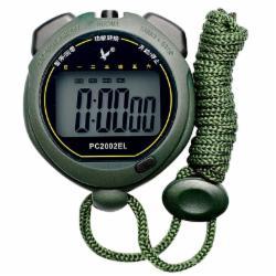天福专业计时秒表跑步运动田径训练裁判表电子闹钟防水夜光计时器单排大屏显示PC2002EL