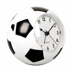 汉时(Hense)创意儿童闹钟学生静音床头钟时尚个性闹表卡通音乐时钟足球造型小台钟HA09黑白色