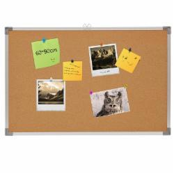 45*60铝框软木板照片墙告示留言板图钉挂板公告栏