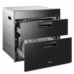 美的(Midea)二星级 高温独立双模嵌入式消毒柜/碗柜90Q15