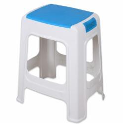 塑料凳子带提手大号塑料板凳 蓝色