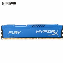 金士顿(Kingston) DDR3 1600 8GB 台式机内存 骇客神条 Fury雷电系列 蓝色