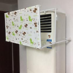 空调导风罩空调挡风板导风板月子盾挡冷气直吹冷风向柜机立式 柜机前面下面有布宽60厚35-小熊