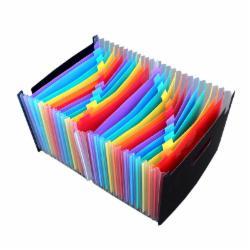 办公彩虹多层文件夹分类风琴包36层 彩色款(容量大小区分)