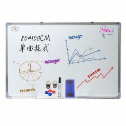 齐富80*100单面磁性挂式白板办公家用教学黑板写字板儿童练习看板80*100