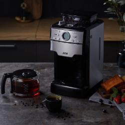 北美电器(ACA)美式全自动磨豆咖啡机家用办公室滴漏型 AC-MC130 银色