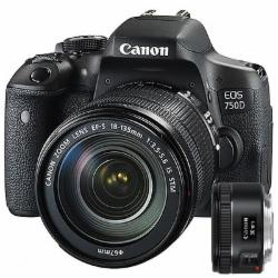 佳能(Canon) EOS 750D 数码单反相机套机 (EF-S 18-135mm f/3.5-5.6 IS STM镜头)