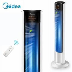 美的(Midea)家用电风扇 遥控塔扇 静音内旋摇头 易拆洗无叶风扇ZAC10BR
