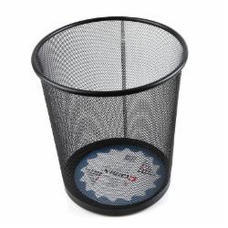 齐心(Comix)金属网纹圆垃圾桶/纸篓/垃圾篓