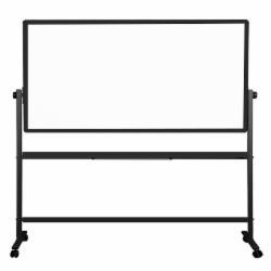 得力(deli)支架式白板180*90cmH型支架可移动可翻转白板双面磁性办公会议板 7884