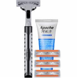阿帕齐Apache手动剃须刀刮胡刀逆袭旋转3层